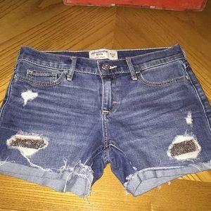 Girls Abercrombie midi shorts size 11/12